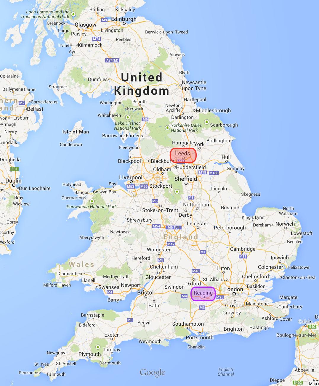 Map Of Uk Festivals.Leeds And Reading Festivals Englishenglish